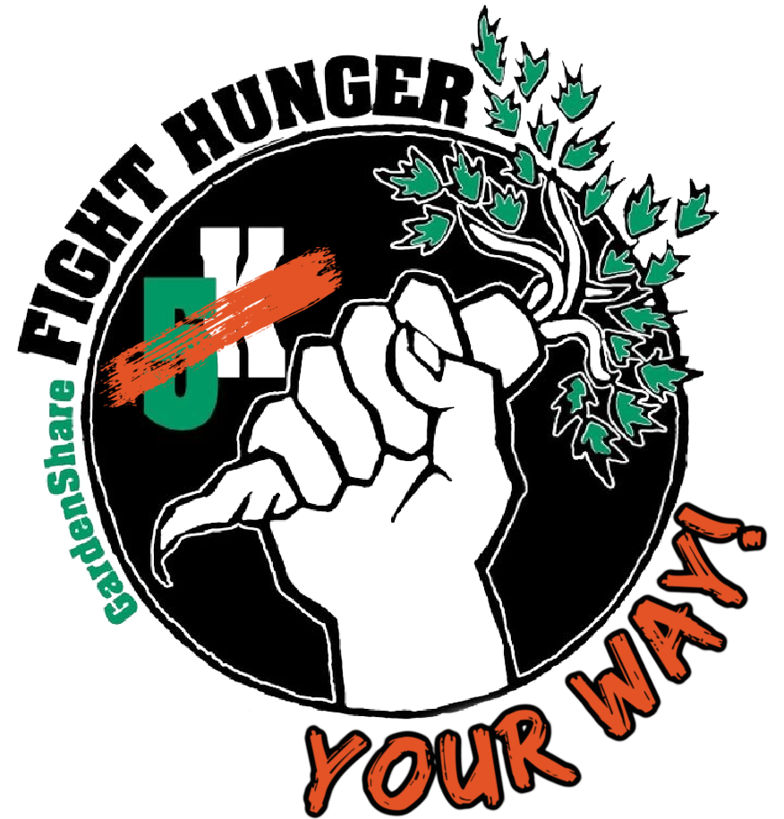 Fight Hunger Your Way logo - fist holding a carrot. 5K is crossed out and replaced with your way.