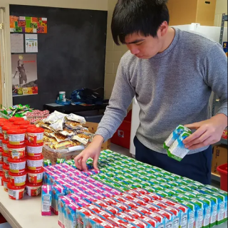 Volunteer working for Potsdam Snackpack Program