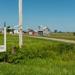 Yoder farm with for sale open vegetables sign